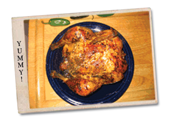 Chicken cooked whole with Knox's Yummy Chicken Dry Rub