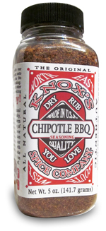 All natural chipotle dry rub seasoning. BBQ seasoning for chicken, beef and pork.
