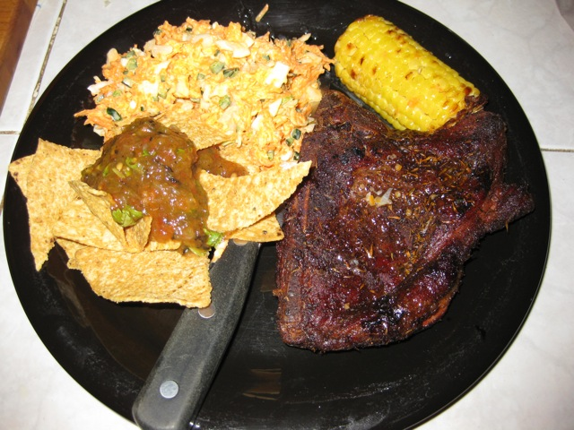 Jamaican Jerk Pork Chops and Roasted Salsa - Discuss Cooking - Cooking ...