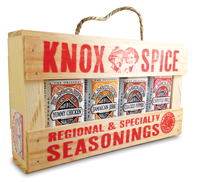 BBQ gift crate filled with dry rub